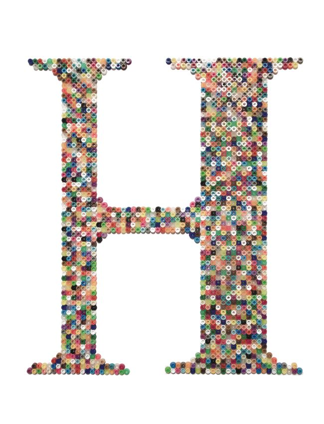 H is for Hamma beads monogram