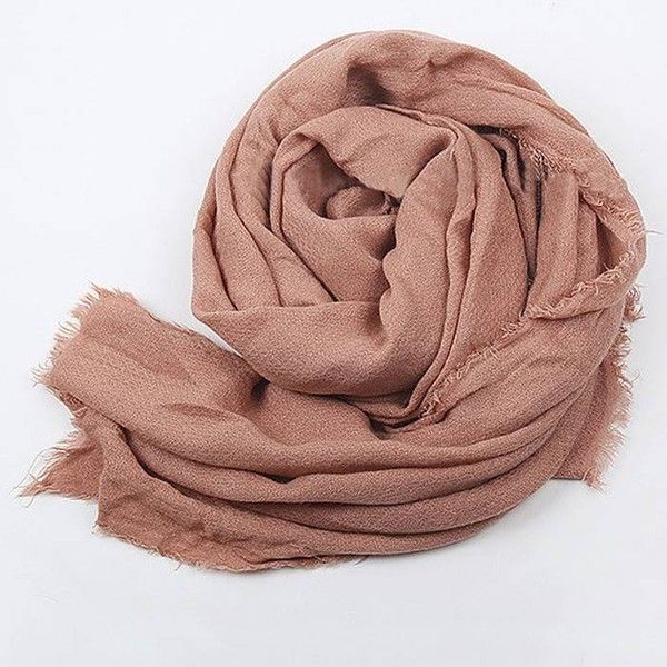 Yoins Yoins Shawl Scarf ($12) ❤ liked on Polyvore featuring accessories, scarves, pink, scarves & shawls and shawl scarves