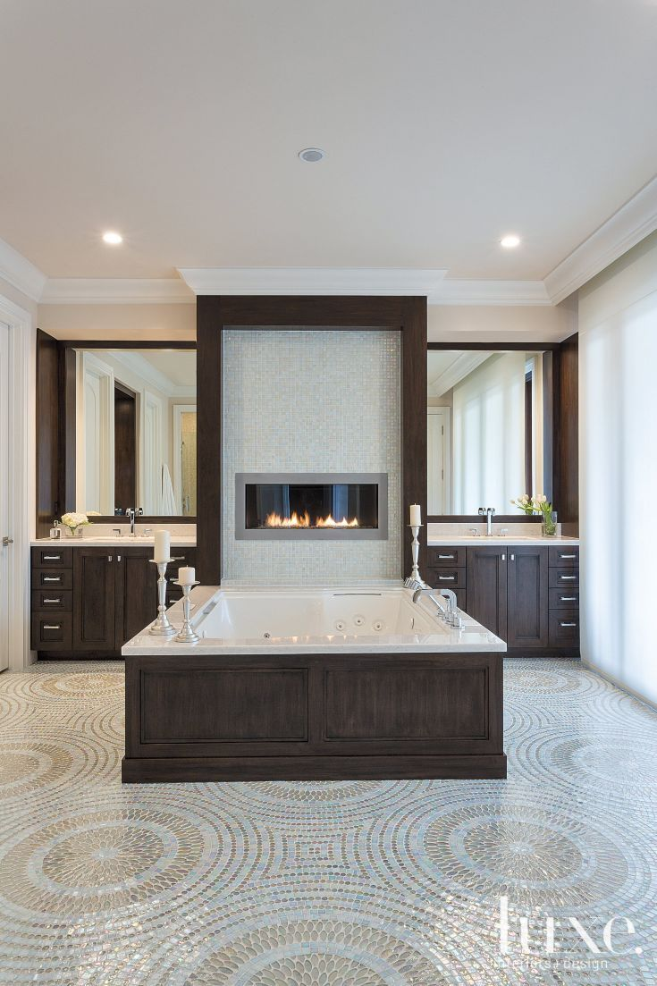 134 Best Images About Bathroom Fireplaces On Pinterest