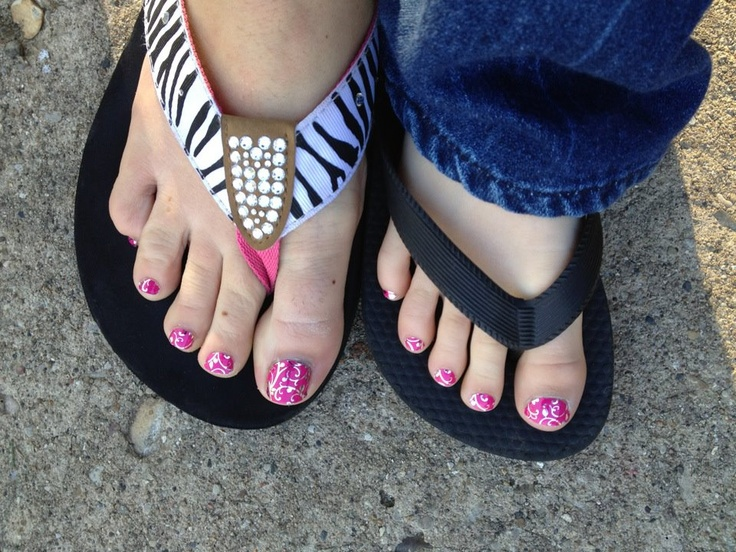 Mother/Daughter matching Jamberry toes!