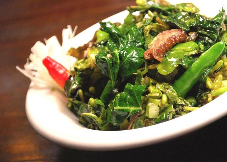 Sayur paku/pakis (vegetables)