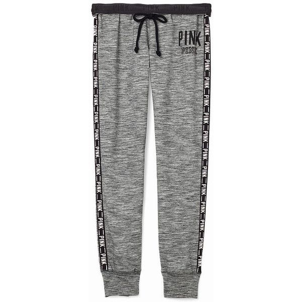 Victoria's Secret PINK Gym Pant ($55) ❤ liked on Polyvore featuring activewear, activewear pants, pants, sweatpants, bottoms, victoria secret pink sweatpants, green sweat pants, sport sweat pants, logo sportswear and sport sweatpants