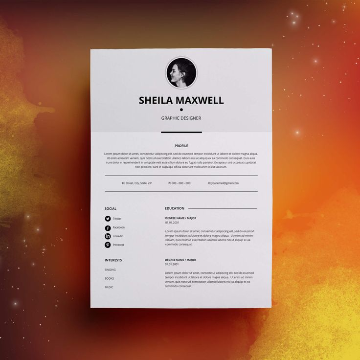 download job resume format%0A Modern Resume Template  u     Cover Letter   Icon Set for Microsoft Word      Page Pack