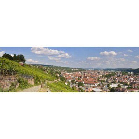 Houses in a village Esslingen am Neckar Stuttgart Baden-Wurttemberg Germany Canvas Art - Panoramic Images (36 x 12)