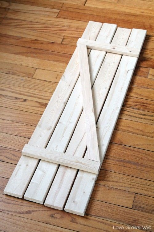Rustic DIY Barn Wood Shutters | Shelterness