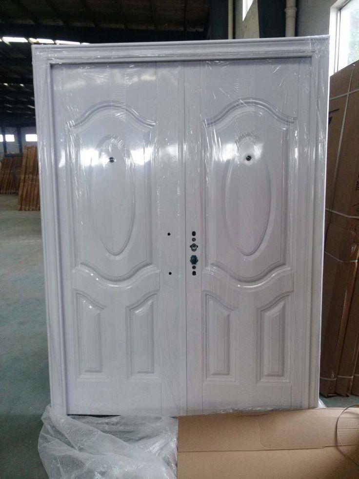 Hotline : 0812 33 8888 61 (WA) Pintu Baja JBS.150.10 (Double Door)  Warna : Putih Minimalis  Ukuran : L.150 x T.210 cm
