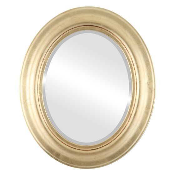 Decorative Gold Leaf Oval mirrors in dozens of sizes. Free Shipping on all framed mirrors.