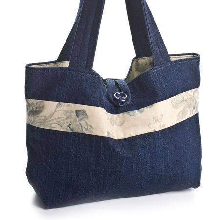 Denim purse. I really like the shape of this bag.