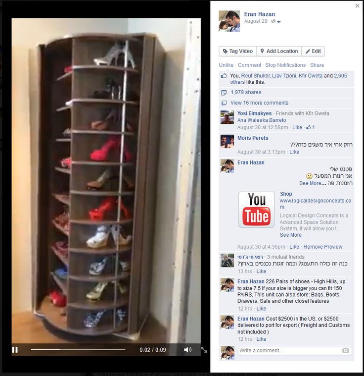 Spinning shoe rack in your closet?! Awesome! www ...