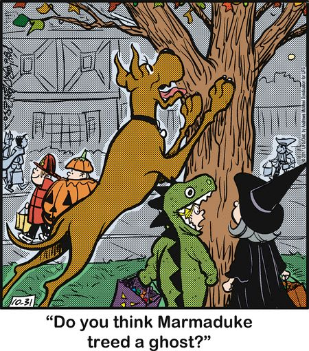 Marmaduke by Brad Anderson for Oct 31, 2017 | Read Comic Strips at GoComics.com