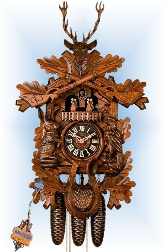 best cuckoo clocks traditional hand carved images on  traditional 8 day trophy buck 24 cuckoo clock by hones