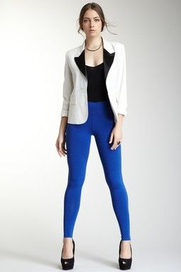 28 Best images about blue leggings on Pinterest | Black blazers ...