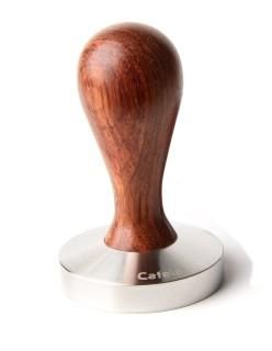 CAFELAT DROP TAMPER 57MM PALI WOOD. All Drop Wood handles are left natural and finished with drop of oil. No varnish or lacquers.