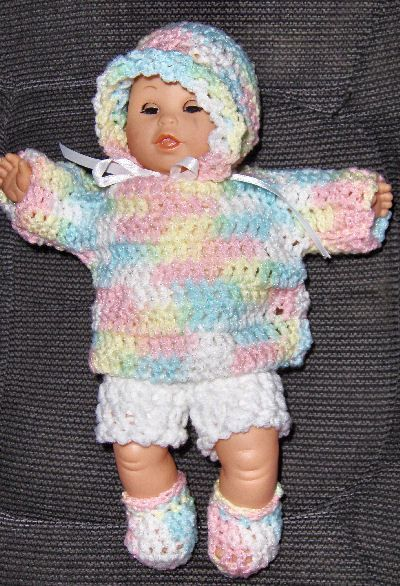 Baby Doll crocheted outfit, the girls and I will make this together b/c doll clothes are sooo expensive!  But we'll definitely pick different colors :)