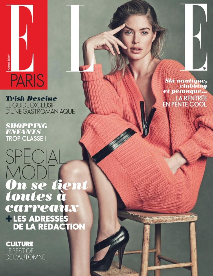 doutzen kroes by andreas sjodin for elle france 30th august 2013 #fashion #photography #editorial