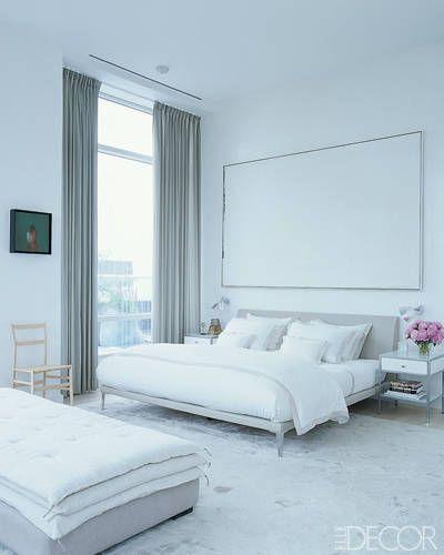 At home with jill stuart jules olitski s white on white for Elle decoration bed linen