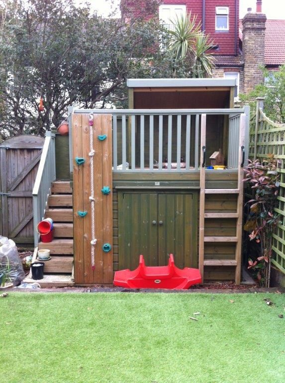 23 best shed playhouse images on pinterest backyard for Shed playhouses