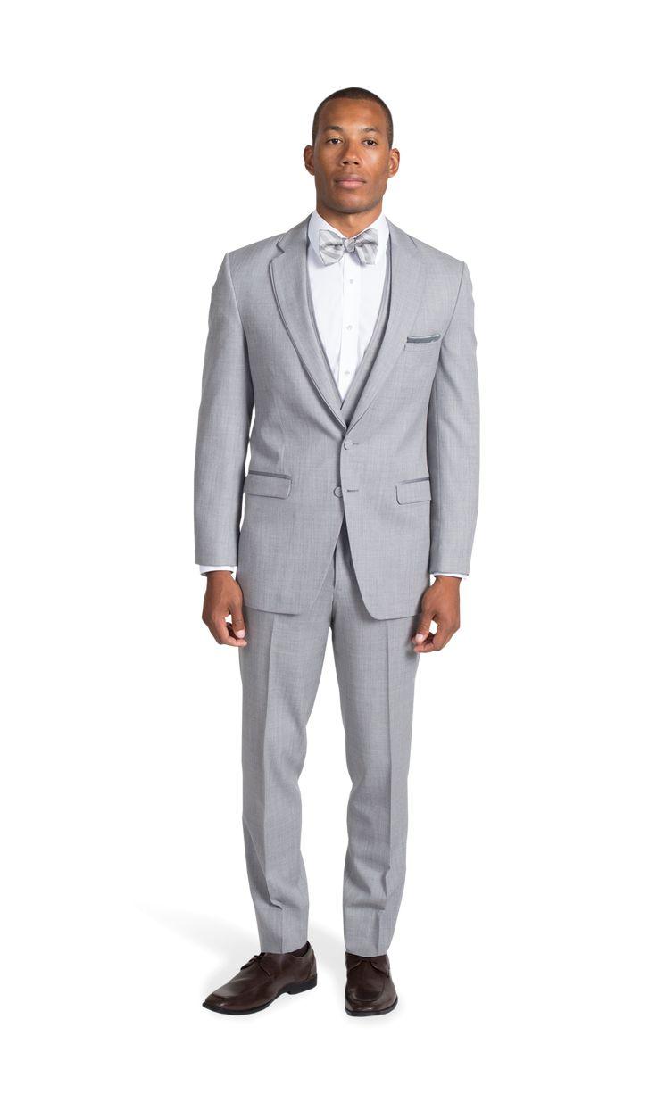 Heather Gray Notch Lapel Suit