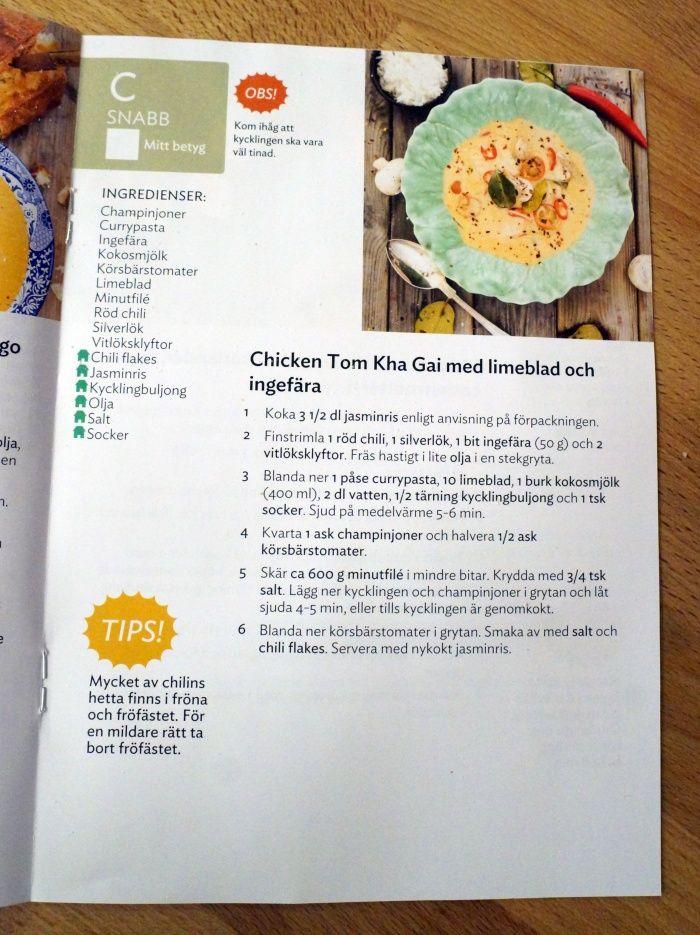 Chicken Tom Kha Gai med limeblad och ingefära