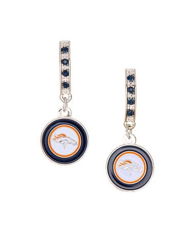 Another great find on #zulily! Denver Broncos Bar Post Earrings #zulilyfinds