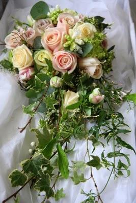 beautiful ivy cascade bouquet.
