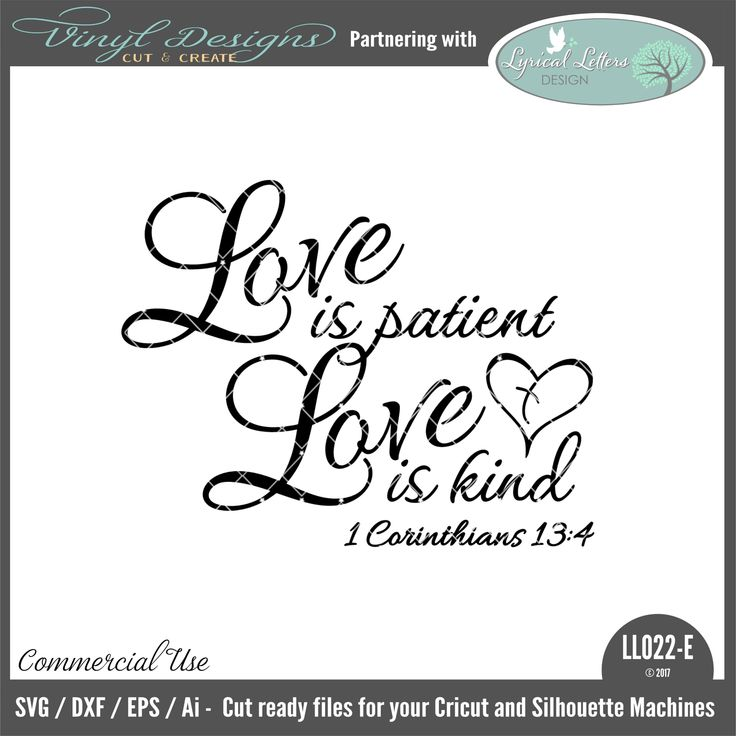 Download LL022E - Love Is Patient Love Is Kind. Sold By Lyrical ...