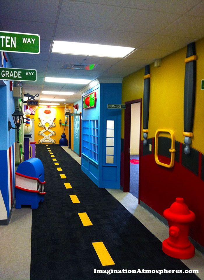 Children's hallway theme for CenterPoint Church, Concord, NH www.imaginationatmospheres.com