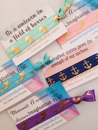 Inspirational Quote Party Bag fillers - Hair Ties