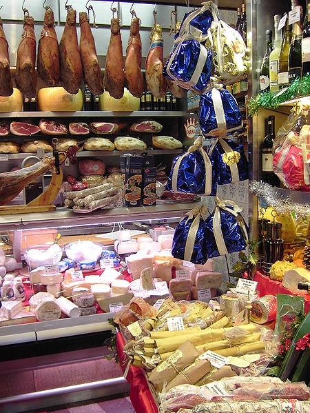Authentic ingredients   Italian deli, Rome, by Alexander Z., 2006-01-03 File:Rome Italian deli.jpg