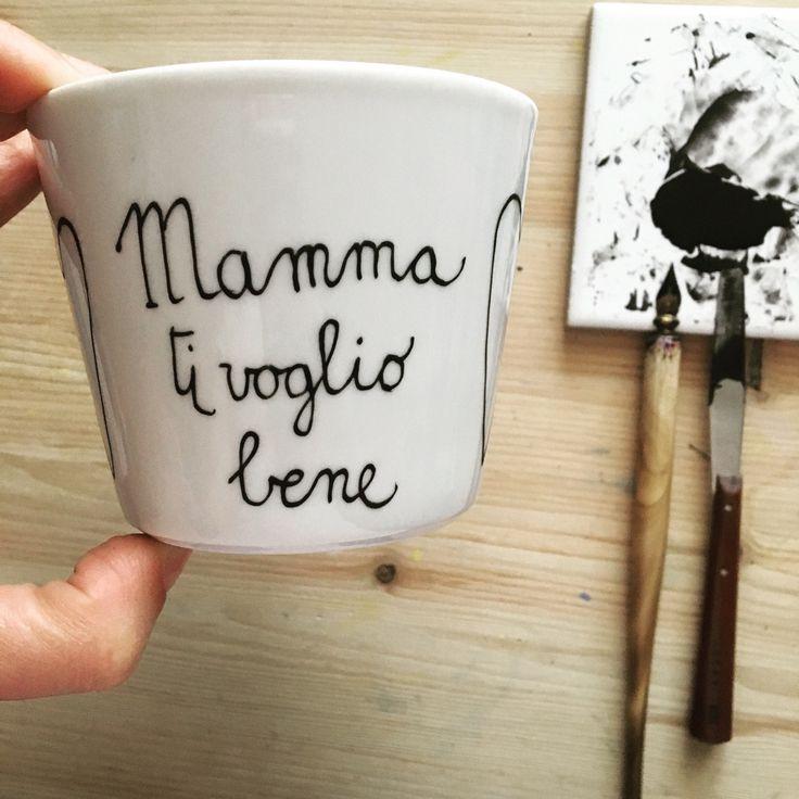 """Tazza mug con scritta vintage """"Mamma ti voglio bene"""" : Stoviglie, bicchieri di nigutindor"""