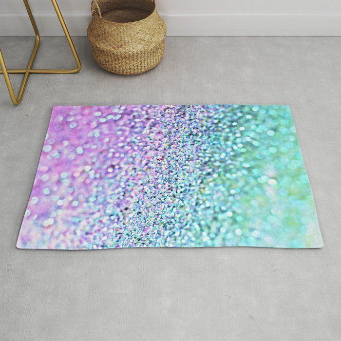 Little Mermaid Rug By Monikastrigel Floral Pattern Rug Watercolor Floral Pattern Purple Rug