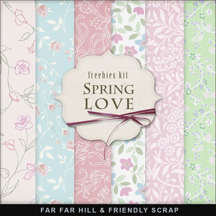 Far Far Hill - Free database of digital illustrations and papers: Freebies Kit of Spring Backgrounds