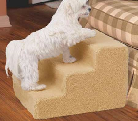Dog Steps Deluxe with Washable Cover 3 Steps - Save 64% - Perfect for Smaller and Older Dogs, Dogs with Hip dysplasia, Arthritis, Overweight Dogs.