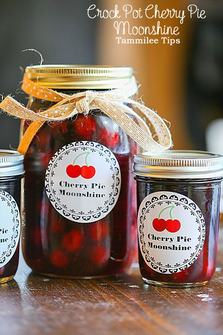 Crock Pot Cherry Pie Moonshine Recipe! This slow cooker cocktail recipe is great on it's own or poured over ice cream!