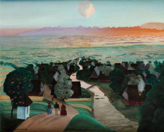 Rafał Malczewski - Rzeka (Panorama Tatr od Północy), około 1927 r.