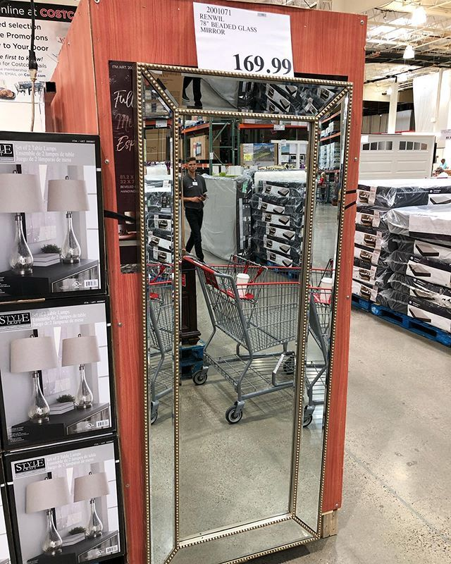 renwil 78 beaded glass mirror only 169 99 costcodeals costco fulllengthmirror mirrors price and availability may var costco deals beaded mirror costco renwil 78 beaded glass mirror only