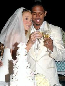 Mariah Carey & Nick's wedding cake. #Celebritystyleweddings.com @Celebstylewed
