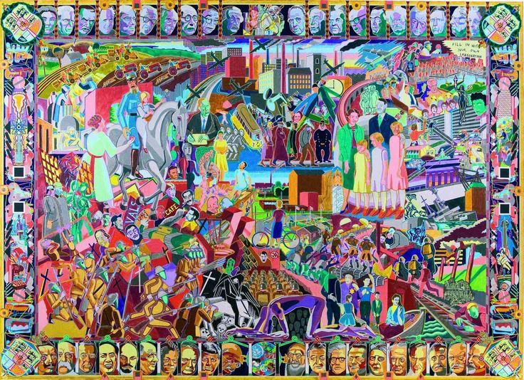 Bjørn Nørgaard - danish weaver - astonishing complexity for a modern tapestry