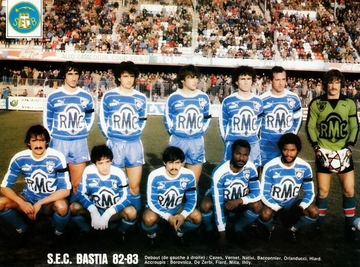 S.E.C. BASTIA 1982-83. | The Vintage Football Club