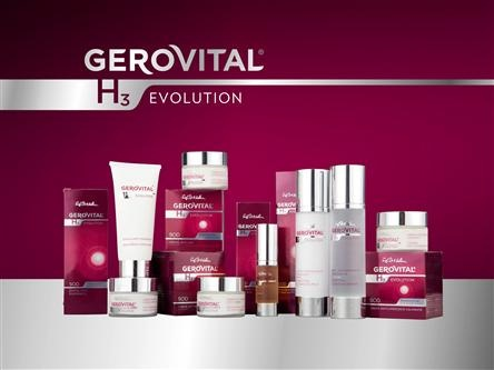 Evolution Gerovital H3 products are divided into two age groups to meet specific requirements such-Products for women aged over 30 years fighting the first signs of aging: fine lines around the eyes and mouth, dark circles and bags the eyes, loss of skin glow. -Products for women aged over 45 are designed to solve complex problems caused by photoaging and decrease estrogen production around menopause: accelerated loss of skin elasticity, deep wrinkles, decreased vitality and cell…