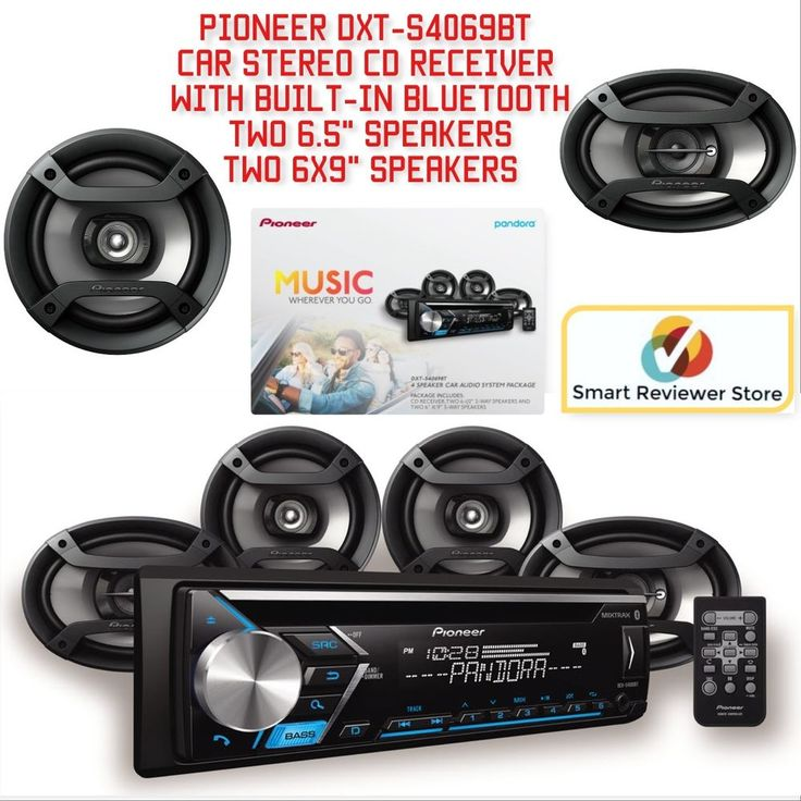 Pioneer Car Stereo Receiver with built-in Bluetooth and 4 Speaker DXT-S4069BT  #Pioneer