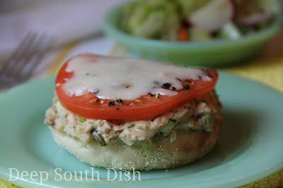 Spicy Tuna Melt on English Muffins: Spicy Tuna, Tuna Melts, Deep South Dish, Main Dishes, Recipes Tuna, Savory Recipes Sandwiches, Lunch, Favorite Recipes