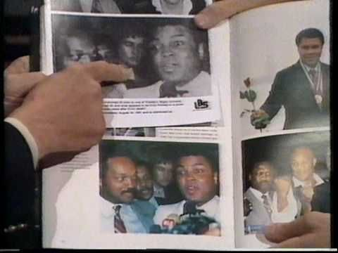 The infamous 1984 photo of Elvis, Muhammad Ali and Jesse Jackson. Elvis' stepbrother Billy Stanley has always identified the man standing in the shadows as Elvis, and proponents of the Is Elvis Alive industry such as Gail Brewer-Giorgio have used this to prove that Elvis was alive at least 7 years after he allegedly died. Then in 1991 new evidence came to light...Has this mysterious picture finally been solved?1984 Elvis alive & Ali photo- The Final Proof?