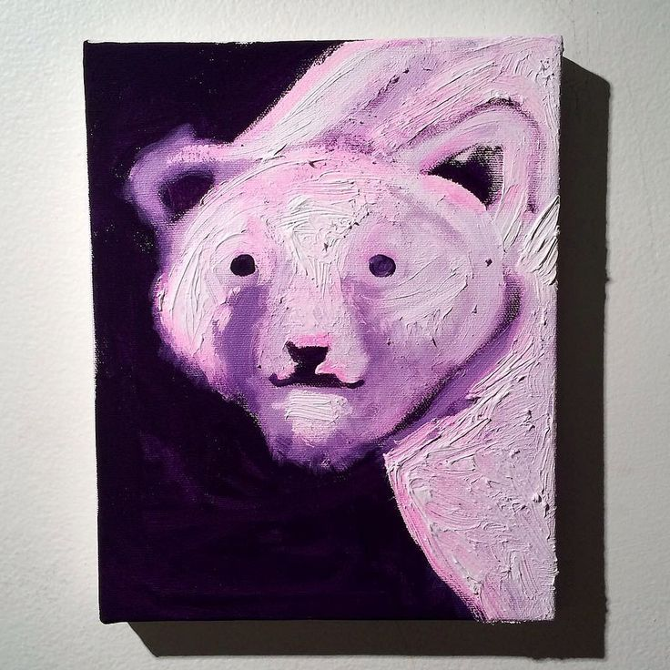 Happy New Year!! Wishing you the best of everything in 2016 #markoconnellstudio Pink Polar Bear :)