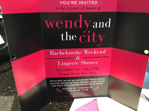 SEX and the CITY Themed Invitations for Birthday Party- Bachelorette Party- Wedding Shower- Lingerie Shower~with Matching envelopes