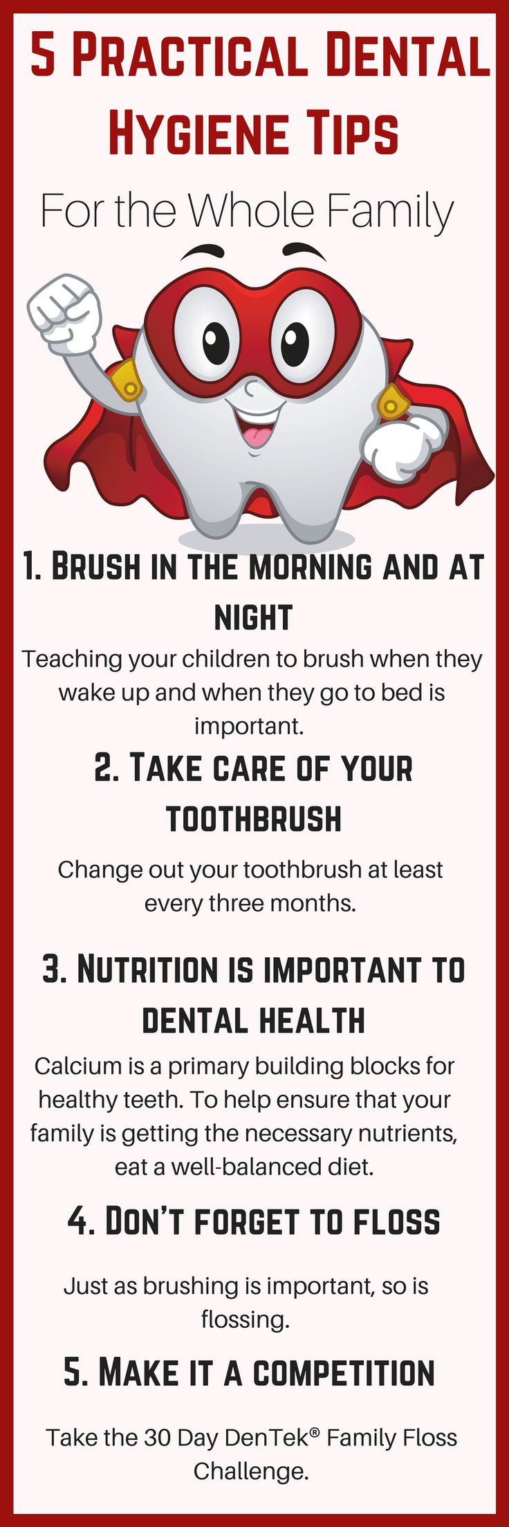 Taking care of their teeth should be a daily routine and one that cannot be neglected. Teaching them proper dental hygiene is important, and they are old enough now to do it on their own. #ad #DenTek #FamilyFlossChallenge @DenTek https://www.southernfamilyfun.com/dental-hygiene-tips-family/ via @winonarogers