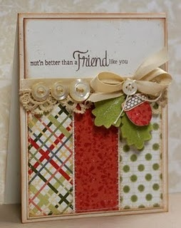 beautiful: Christmas Cards, Ribbons Bows, Cards Design, Cards Ideas, Friends Cards, Fall Cards, Pretty Cards, Friendship Cards, Buttons