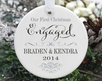 Engagement Ornament Engaged Ornament He Put a by PearTreePersonal