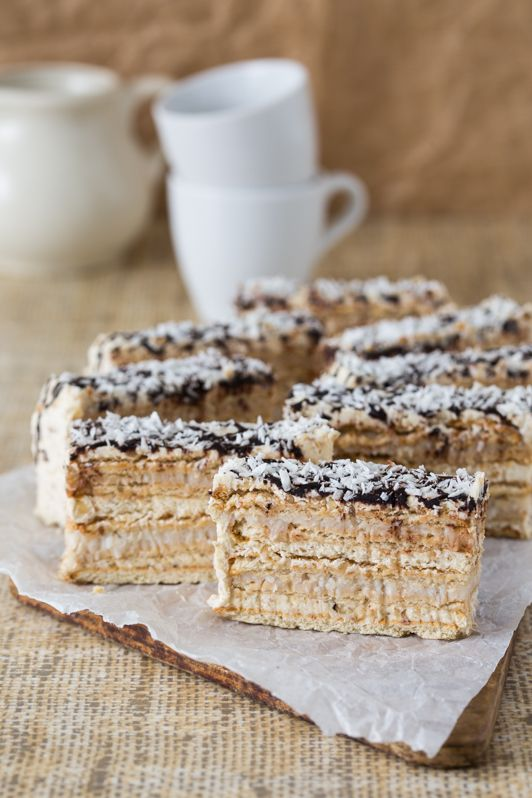 No Bake Coconut and Walnut Cake (recipe in Polish and English)