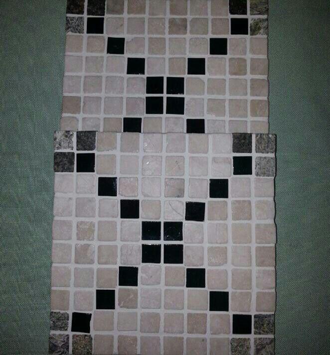 Centro de mesa. Vidro fundido e mármore indiano.